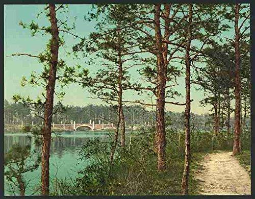 Photo The lake at Georgian Court Lakewood NJ A4 10x8 Poster Print -