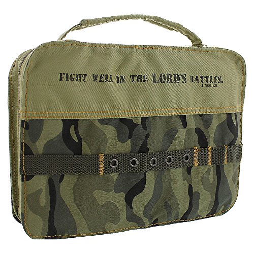 Cotton Camouflage Silk Screened Bible Book Cover Large
