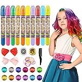 WOSTOO Pelo Tiza, 10 Colores Colorful temporales Pelo Tiza, Pelo färben para Todos los Pelo,...