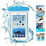 HUMBLE Premium Holi Festival Universal Underwater Waterproof Pouch Bag Pack Case for Mobile Phone Screen Size Upto 5.5 Inches