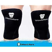 Urban Lifters Ginocchiere (Coppia) Crossfit 7mm Knee Sleeves Ottimo Supporto, Calore, Compressione e miglioramento delle…