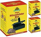 Neudorff Sugan MäuseKöderBox Gardopia Sparpakete + Zeckenzange mit Lupe (3 Stück)