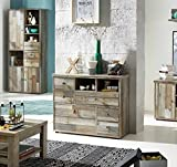 lifestyle4living Kommode, Sideboard, Anrichte, Highboard, Schlafzimmerkommode, Flurkommode, Schubladenkommode, Wäschekommode, Driftwood, Treibholz
