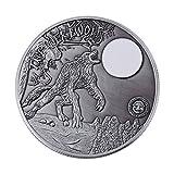 Gedenkmünze, Metall Sammlermünzen Silbermünzen Goldmünze Kunstmünze Sammlung, Werwolf Münzen und Drachenmünze Optional, Weihnachtsgeschenk(Werwolf)