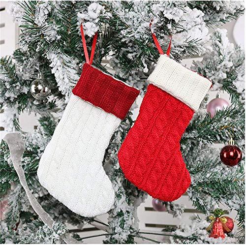 Fenverk Weihnachten Kreative Puppe Nikolausstiefel Geschenkbeutel Weihnachtsbaum Anhänger Weihnachtsdekoration Für Weihnachtsfeier Dekorieren/Wollstrick Socken
