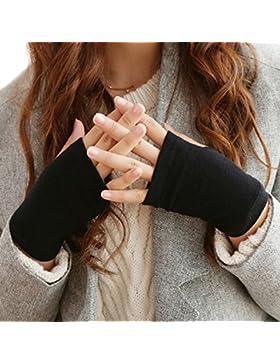 Butterme Moda Donna Metà dita pollice Hole Knit di inverno caldi guanti Guanti con brillanti strass Starfish