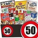 50. Geburtstag | Ostalgie Geschenkset | mit Trabi Puffreis Schokolade, Butterkeks Original Wittenberger und mehr | GRATIS DDR Kochbuch | Süße Geschenkboxen
