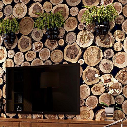 Linie Geschlossene Regale (JSLCR Neue chinesische Restaurant Café Hintergrund Loft industrielle Wind Einsätze Wallpaper Hintergrundbilder,Braun)