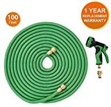 ANSIO Garden Hose Pipe Expandable Water Hose 100 Ft/30M with Brass Connectors, 9