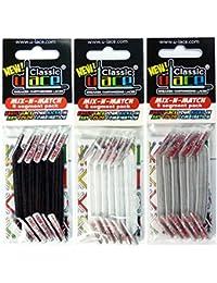 Pack 3 Sachets 6 segments U-Lace : Blanc, Noir, Gris.