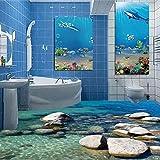Lmopop Fototapete Moderne 3D Pebbles Wasser Wellen Boden Malerei Wandbilder Aufkleber PVC Wasserdichte Anti Wear Bodenbelag Tapeten 3 D400X280Cm