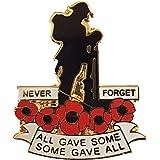 Migliore distintivo: Guerra Mondiale Militare Veterano Soldier Never Dimenticare Red Poppy Pin Spilla Badge Spilla