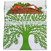 original Lunschskins Big Sandwich Bag Baum, die bessere Brotdose, Snackverpackung mit Klettverschluss, wiederverwendbar