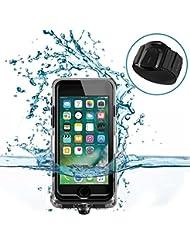 UWEAR étui étanche pour iPhone 6 / 6s / 7 avec ceinture de brassard, coulant de plongée de natation Housse de protection, antichoc / Dropproof / neige pour sports nautiques en plein air (4.7 pouces seulement)