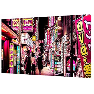 TOKYO CITY PHOTO PRINT ON FRAMED CANVAS WALL ART 30 x 20 inch -18mm depth