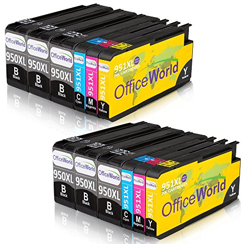 OfficeWorld Kompatible Patronen Ersatz für HP 950XL 951XL Druckerpatronen Hohe Kapazität mit Neuer Chips Kompatibel für HP Officejet Pro 8600 8610 8620 8630 8640 8100 8660 8625 8615 251dw 276dw (6 Schwarz, 2 Cyan, 2 Magenta, 2 Gelb)