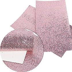 BULIAOHAO telas para patchwork Accesorios de tela 20 * 34 cm brillo Argyle cuero sintético para ropa de cama de bricolaje Textiles para el hogar para coser rosa