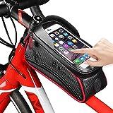 LuTuo Fahrrad Rahmentasche, Empfindlicher Touchscreen Fahrrad Rahmen Beutel, Kopf Rohr Beutel, Radfahren Beutel für Fahrrad, Lenkertasche, Wasserdicht Grosse Kapazität