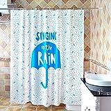 LUYIASI- Duschvorhang Frische und stilvolle ästhetische Umbrella Badezimmer Vorhänge Wasserdichte Verdickung zu verhindern, Moldy PEVA Duschvorhang 180CMx180CM (ausgestattet mit Haken) Shower Curtain