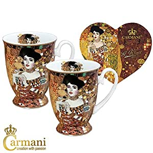 carmani porzellan becher mit 39 adele 39 von gustav klimt. Black Bedroom Furniture Sets. Home Design Ideas
