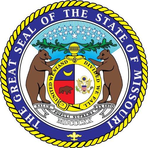 Missouri State USA Seal Hochwertigen Auto-Autoaufkleber 12 x 12 cm -