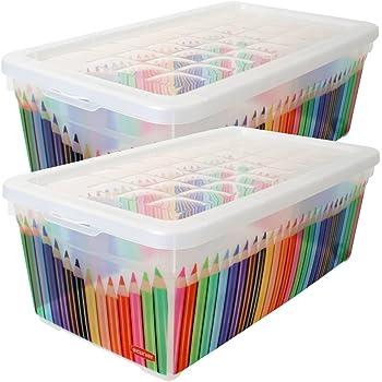 2 st ck curver aufbewahrungsbox mit deckel utensilienbox. Black Bedroom Furniture Sets. Home Design Ideas