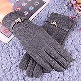 Warme Handschuhe: Frauen Nicht SAMT Tragen Handschuhe.Kaschmir An Den Bildschirm Zu Spielen, Süß Und SAMT Warme Handschuhe,Graue Diamanten