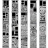 SFGHOUSE Bullet Journal Schablone Set Kunststoffplaner DIY Zeichnungsvorlage Herrscher Tagebuch-DIY Schablone für Planer Malerei Journaling Scrapbooking Karte und Kunstprojekte (20 Stk)