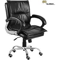 Da URBAN Miller Medium Back revolving Office Chair (Black) (1Pc)