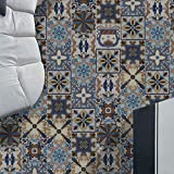 JY ART Fliesen-Aufkleber PVC Boden Aufkleber Wasserdicht Ölbeweis Küche Wohnzimmer Dekoration Fliesentransfer Wandaufkleber, 1, 20cm*5m