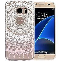 JIAXIUFEN Coque pour Samsung Galaxy S7 Edge Silicone Étui Housse TPU  Protecteur - White Pink Tribal 4bf436e76189