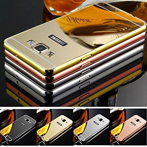Kamal Star® Schutzhülle für iPhone, Aluminium, superdünn, verspiegelt, Metall, metall, schwarz, iPhone 6 Plus / 6S Plus schwarz