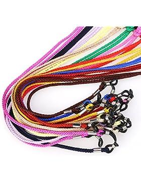 nuolux Gafas Cord de enfoque de cuerda Gafas estructura–Soporte de 12pcs (Color aleatorio)