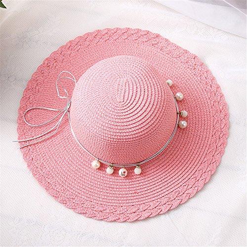 Adorabfitting-cap cappello cappellino hat cap visiere estate bambini donne perle cupola cappello da sole vacanza al mare protezione solare ombrellone ragazze rosa