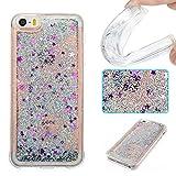 Funda iPhone 5S Anfire Carcasa iPhone SE Glitter Silicona Líquido Arenas Movedizas para iPhone 5 /...