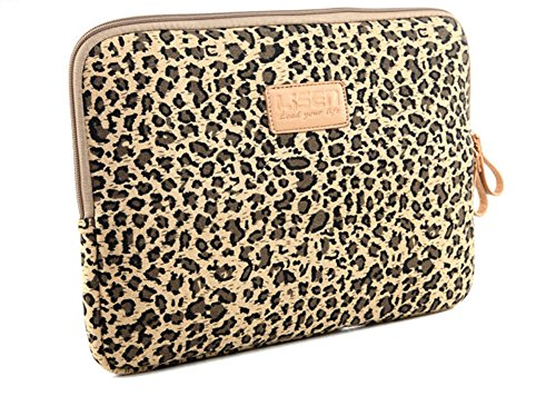 psmgoods tragbar Leopard Style 33-33,8cm Hülle Case Tasche Cover für 33cm Laptop/MacBook/MacBook Pro/MacBook Air 016-Brown Portable Netbook Case