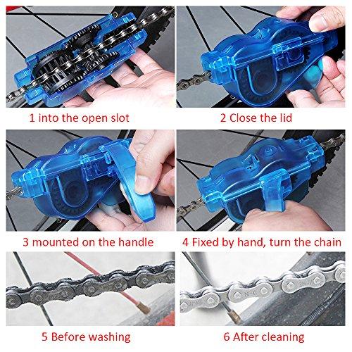 Mture Fahrrad Kettenreinigungsgerät Cycling Bike Bicycle Chain Cleaner – Blau - 4