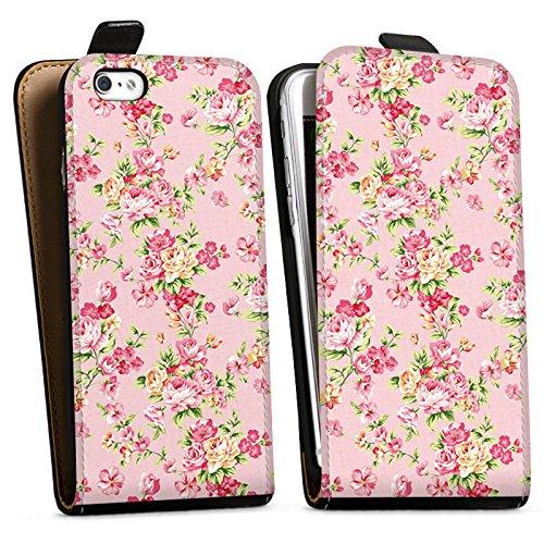 Apple iPhone X Silikon Hülle Case Schutzhülle Rosen Frühling Blumen Downflip Tasche schwarz