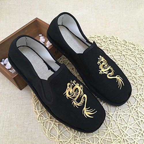 LvYuan Unisex scarpe di stoffa cinese tradizionale / informale retrò Breathe scarpe ricamate / scarpe Kung Fu / Arti marziali / slip-on scarpe 1#