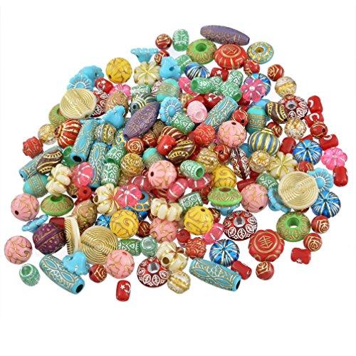 Souarts Schmuckteile Gemischte Acrylperlen Spacer Beads Kugel Schmuckperlen Zubehoer Zum Basteln Blumen 100g