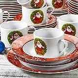 VEWEET, Serie SANTACLAUS, Porzellan Geschirrset, 60 TLG. Tafelservice für 12 Personen, Geschenk für Weihnachten Vergleich