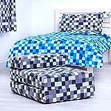 Grey Pixels Design Single Foam Fold Out Z Bed Chair Guest Mattress Sleepover