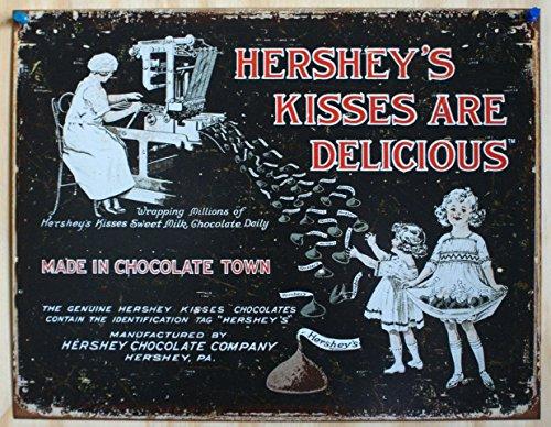 hersheys-plaque-publicitaire-metal-hersheys-kisses-are-delicious