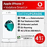 Apple iPhone 7 (Silber) mit 32 GB internem Speicher, Vodafone Smart L+ inkl. 7GB Highspeed Volumen mit max 500 Mbits, inkl. Telefonie- und SMS Flat, EU-Roaming, 24 Monate min. Laufzeit, mtl. € 41,99