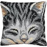 Collection D Art - Cojín para punto de cruz, diseño de gato