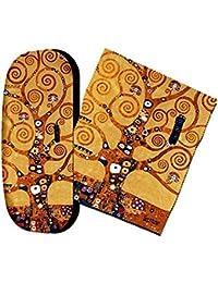 Set étui à lunettes et chiffon de nettoyage pour lunettes–L'arbre de vie de Gustav Klimt Artis Vivendi