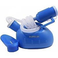 YUMSUM Unisexe Femme Femelle Mâle Lit Urinoir commun Potty Pee Bouteille Collecteur Voyage Toilette 2000ML avec 1.3M Tuyau (Bleu)