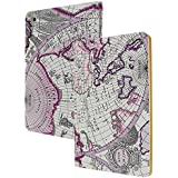 ANG ® for iPad Mini1/2/3 PU Leather Smart Cover Case with Sleep/Wake-up Function丨Map Pattern Cover