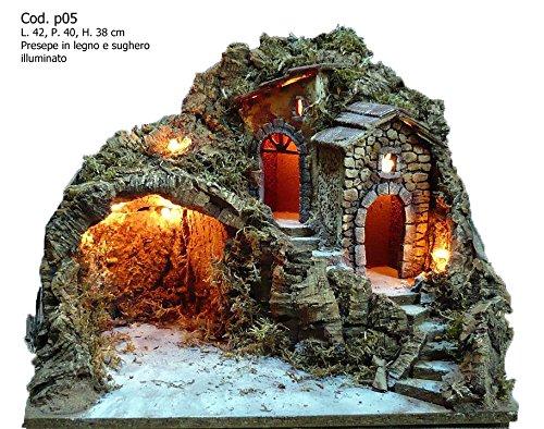 Artigianale presepe presepio napoletano san gregorio armeno p05 42x40x38h cm