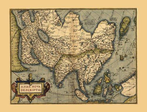 carte-ancienne-de-lasie-inde-afrique-du-nord-ouest-pacifique-nouvelle-guinee-par-abraham-ortelius-ta